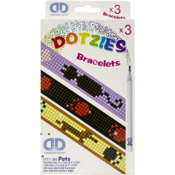 Diamond Dotz Σετ 3 Βραχιόλια Κατοικίδια