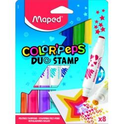 2 σε 1: μαρκαδόροι + σφραγίδες Color'Peps MAPED